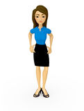 3D Bossy businesswoman Royalty Free Stock Photo