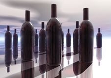 3D Bottle Collection Royalty Free Stock Image