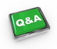 3d bouton poussoir q&a illustration stock