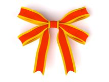 3d  bow isolated on white background Royalty Free Stock Photos