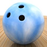 3D bowling ball Royalty Free Stock Image