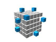3d box 02. 3d box set in color vector illustration