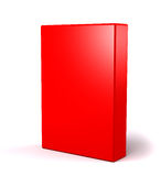 3D box. 3D red box on white Stock Photo