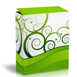 3d Box. With green modern printing Stock Images