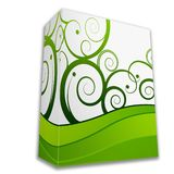 3d Box. With green modern printing Royalty Free Stock Photos