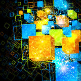 3d box abstract background. 3d box abstract decorative background Royalty Free Stock Photos