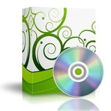 3d Box with DVD Stock Photography