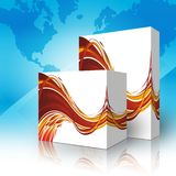 3d box for generics products. Two 3d box for generics products Stock Images