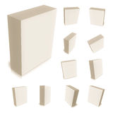 3d box for generics products Stock Photo