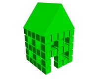 3d box house 10. 3d box house in color Royalty Free Stock Photo