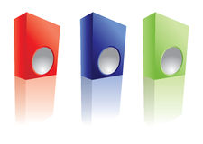 3D box icon set Stock Photos