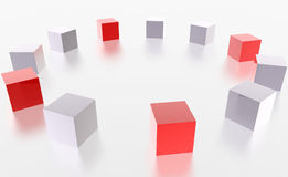 3D boxes Stock Image