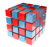 3D boxes. 3D shiny abstract cubes design Royalty Free Stock Images