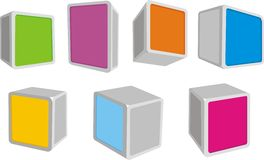 3D boxes Royalty Free Stock Photography