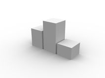 3D boxes, bars. Add your graphics to it and fill your needs Royalty Free Stock Images