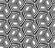 3d boxes repeat background. Geometric black and white seamless pattern. 3d boxes repeat background Royalty Free Stock Photo