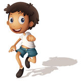 3D boy. Illustration of a 3D looking boy on white Stock Photos