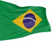 3D Brazilian flag Stock Photos