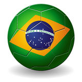 3D Brazilian soccer ball  on a wh Royalty Free Stock Images