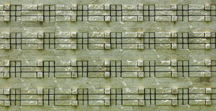 3d Brick Texture. Great brick wall with a different pattern Stock Image