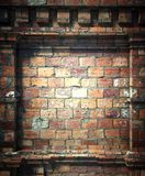 3d brick wall, antique architecture background Stock Photo