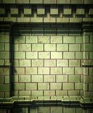 3d brick wall, antique architecture background. 3d brick wall background, antique architecture Royalty Free Stock Images