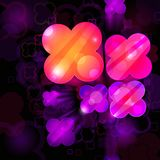 3d bright abstract background Royalty Free Stock Images