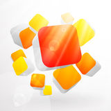 3d bright abstract background Stock Photos