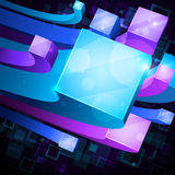 3d bright abstract background stock illustration