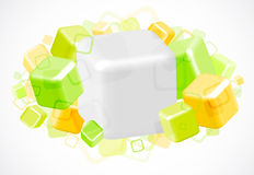 3d bright abstract background with cubes. Illustration Royalty Free Stock Image