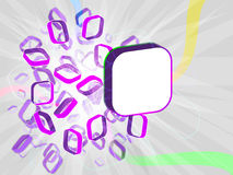 3d bright  illustration. Abstract 3d background for your advert message Royalty Free Stock Photos