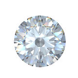 3d brilliant cut diamond. 3d  Round  brilliant cut diamond Royalty Free Stock Photo