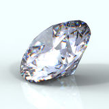 3d brilliant cut diamond. 3d Round brilliant cut diamond Stock Photo