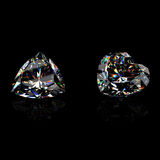3d brilliant cut diamond Stock Photography