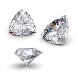 3d  brilliant cut diamond Stock Images