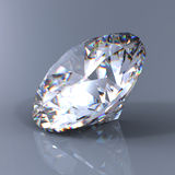 3d brilliant cut diamond perspective Stock Image