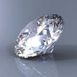 3d brilliant cut diamond perspective stock image