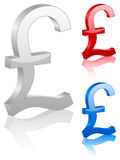 3D british pound symbol Stock Images