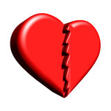 3D broken heart Stock Photography