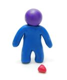 3D Brokenhearted Man Figure Stock Images
