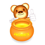 3d brown little bear Royalty Free Stock Images