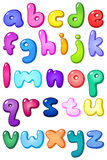 3d bubble lower case alphabet royalty free illustration