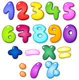 3d bubble numbers. 3d bubble shaped numbers and math signs set Stock Illustration