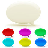 3d bubble talk. On white background Royalty Free Stock Photos
