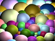 3d bubbles färgrikt royaltyfri illustrationer
