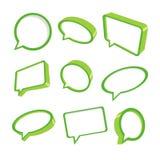 3d bubbles grönt anförande Arkivbild