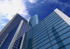 3d budynków chmur szkła niebo Obrazy Stock