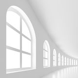 3d Building. 3d Illustration of Large Building or Hall Stock Photography