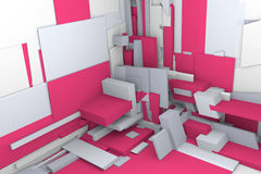 3d Building Blocks. This is a fractal 3d render of blocks in an unfinished construction zone. Could easliy be used for professional construction, but even better Royalty Free Stock Image