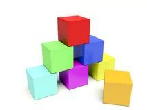 3d Building Bricks Stock Photo